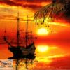 Tranh thuyền trên biển 10527