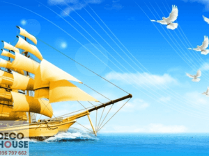 Tranh thuyền trên biển 11144