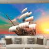 Tranh thuyền trên biển 13057