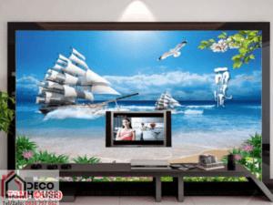 Tranh thuyền và biển 15759