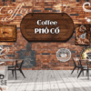Tranh tường 3D quán cafe 38404