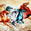 Tranh 8 con ngựa 11483