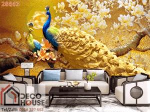 Tranh chim công 3D 2866