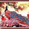 Tranh chim công và hoa đào 44