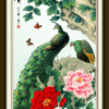 Tranh chim công và hoa mẫu đơn 3471