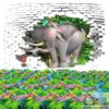 Tranh động vật 3D 54