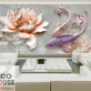 Tranh hoa sen 3D đẹp 20576