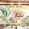 Tranh hoa sen 3D đẹp 28380