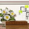 Tranh hoa sen trắng 3D 11981