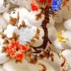 Tranh cá chép hoa mẫu đơn 3D 1145