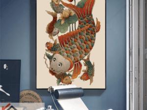 Tranh cá chép hóa rồng 38506