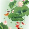 Tranh cá chép hoa sen 148