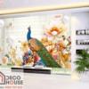 Tranh dán tường 3D chim công 39059