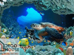 Tranh dán tường 3D đại dương 1499