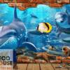 Tranh dán tường cá heo đẹp 1