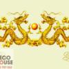 Tranh kính đôi rồng vàng 142