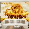 Tranh ngựa vàng 32384
