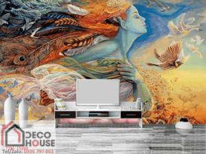 Tranh sơn dầu dán tường 15899