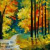 Tranh sơn dầu hàng cây đẹp 31