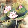 Tranh sơn dầu hoa sen đẹp 383