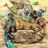 Tranh động vật 3D 11427