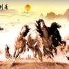 Tranh tám con ngựa 307