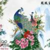 Tranh vợ chồng chim công 926