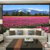 Tranh phong cảnh cánh đồng hoa đẹp 25191