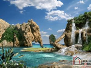 Tranh phong cảnh thác nước đẹp 201